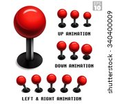 classic red arcade game... | Shutterstock .eps vector #340400009