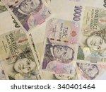 1000 and 2000 czech koruna czk  ... | Shutterstock . vector #340401464