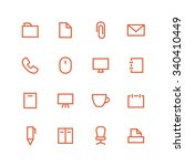 office icon set. different... | Shutterstock . vector #340410449