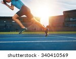 shot of young male athlete... | Shutterstock . vector #340410569