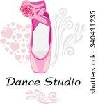 Dance Studio. Logotype. Vector
