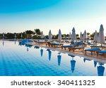Sun Over Hotel Pool