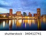 view of inner harbor area in... | Shutterstock . vector #340412741
