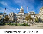 the city hall of baltimore... | Shutterstock . vector #340415645