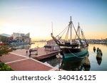view of inner harbor area in... | Shutterstock . vector #340416125