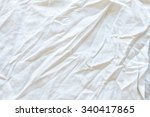 the clumpred white fabric... | Shutterstock . vector #340417865