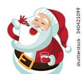 Santa Claus Eating A Christmas...