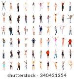 together we stand team together  | Shutterstock . vector #340421354