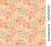 leaves seamless pattern | Shutterstock .eps vector #340426541