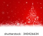red winter background with... | Shutterstock . vector #340426634