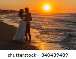 just married young couple at... | Shutterstock . vector #340439489