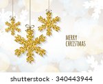 vector christmas or new year... | Shutterstock .eps vector #340443944