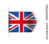 uk flag ribbon vector | Shutterstock .eps vector #340449581