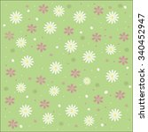 pastel floral background ... | Shutterstock .eps vector #340452947