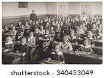 ������, ������: Antique portrait of school