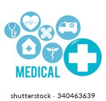 medical healthcare graphic... | Shutterstock .eps vector #340463639