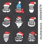 christmas typographic... | Shutterstock .eps vector #340469579