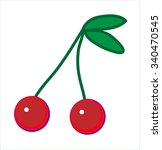 cherry  vector. | Shutterstock .eps vector #340470545