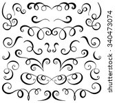 vintage decorative curls and... | Shutterstock .eps vector #340473074