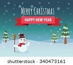 christmas vector background.... | Shutterstock .eps vector #340473161