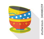 kitchenware bowl flat icon | Shutterstock .eps vector #340480259
