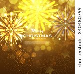 christmas background with gold...   Shutterstock .eps vector #340480799