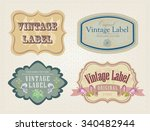vintage border set with flowers. | Shutterstock .eps vector #340482944