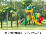 children playground park in the ... | Shutterstock . vector #340491341