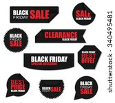 black friday collection... | Shutterstock .eps vector #340495481