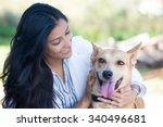 closeup portrait  sweet moments ... | Shutterstock . vector #340496681