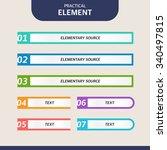 web element design set | Shutterstock .eps vector #340497815