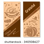 happy thanksgiving. vector... | Shutterstock .eps vector #340508627