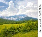 Carpathians mountain landscape - stock photo
