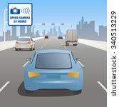 motor vehicles driving on...   Shutterstock .eps vector #340513229