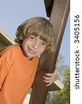 Kid on a playset - stock photo