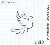 vector illustration flying... | Shutterstock .eps vector #340517327
