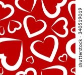 seamless pattern with hearts.... | Shutterstock .eps vector #340519019