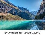 Lake Louise Sunburst In Banff...