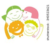 sign  icon kids of different... | Shutterstock .eps vector #340523621