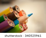 pack of color pencils with a... | Shutterstock . vector #340525961