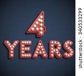 '4 years' typography  vector | Shutterstock .eps vector #340533299