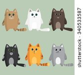 different breeds of cats | Shutterstock .eps vector #340533587