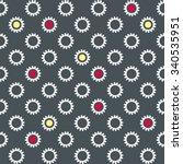 contrasting seamless wallpaper... | Shutterstock . vector #340535951