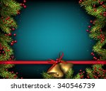 christmas background with fir... | Shutterstock .eps vector #340546739
