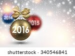 2016 new year background with... | Shutterstock .eps vector #340546841