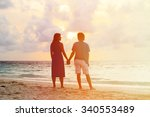 happy young romantic couple on... | Shutterstock . vector #340553489