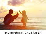 father and little daughter... | Shutterstock . vector #340553519