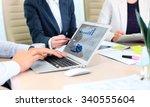 business adviser analyzing... | Shutterstock . vector #340555604