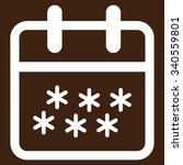 winter date vector icon. style...   Shutterstock .eps vector #340559801