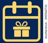 gift day vector icon. style is... | Shutterstock .eps vector #340560731
